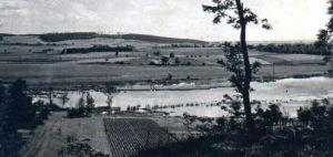 Widok zalewu z pocztówki (lata 70')